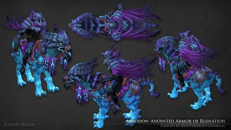 ArtStation - Abaddon: Anointed Armor of Ruination, Jeremy Klein