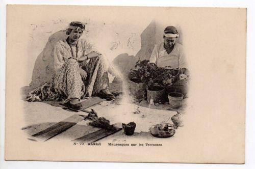 ALGERIE Algerie française ALGER carte nuage 1900 femmes mauresques sur terrasses