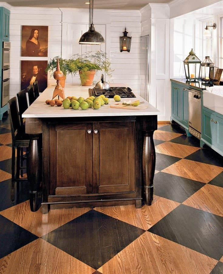 20 Kitchen Flooring Ideas Pros Cons And Cost Of Each Option Cottage Kitchen Inspiration Painted Kitchen Floors Kitchen Flooring