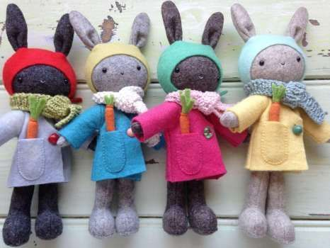 Thistledown Rabbits - pattern by May Blossom