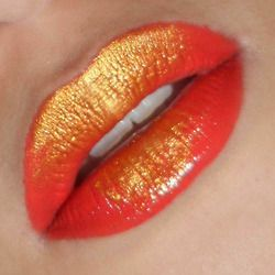 Orange Shimmer* #makeup, #lips, #pinsland, https://apps.facebook.com/yangutu