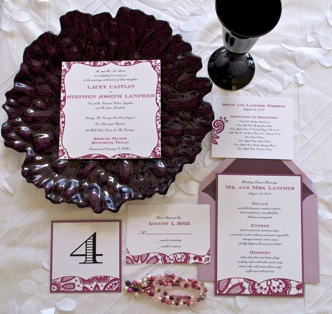 Wedding Invitation Suite- Lovely  http://www.simplypersonal.com/k-scott-weddings