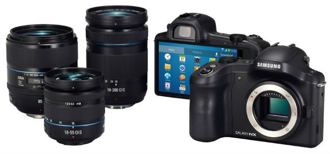 Samsung anuncia câmera Galaxy NX com Android e lente intercambiável - US $1000, 00