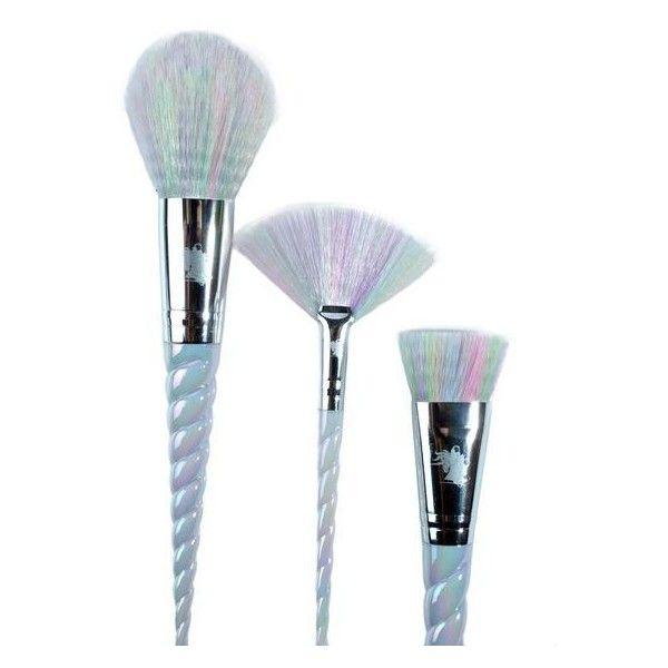 Unicorn Lashes Unicorn Brush Set ($65) ❤ liked on Polyvore featuring beauty products, makeup, makeup tools, makeup brushes, set of brushes and set of makeup brushes