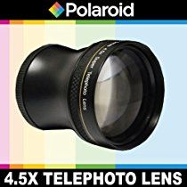 Polaroid Studio Series 4.5x Super Telephoto Lens, Includes Lens Pouch and Cap Covers For The Pentax K-3, K-50, K-500, K-01, K-30, K-X, K-7, K-5, K-5 II, K-R, 645D, K20D, K200D, K2000, K10D, K2000, K1000, K100D Super, K110D, *ist D, *ist DL, *ist DS, *ist DS2 Digital SLR Cameras Which Has Any Of These (18-55mm, 50-200mm) Pentax Lenses