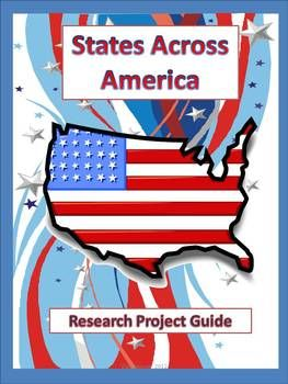 States Across America Research Project  This project uses higher level thinking skills in order to learn about a state in America as well as learning research skills. It involves researching, gathering facts, creating, and presenting. Your students will incorporate reading, writing, and humanity skills. There are three parts to the project: the poster, the written report, and the oral presentation.: Bingo United States, Reading Challenge, 50 States, States Challenges, Gathering Facts, Schools Ideas, Capitals Review, States And Capitals, U.S. States