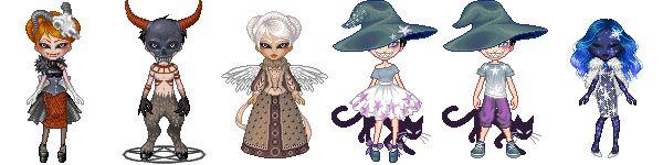The latest pixel stuffs I did for Allfanarts's avatar maker. Art (c) me Base (c)Allfanarts