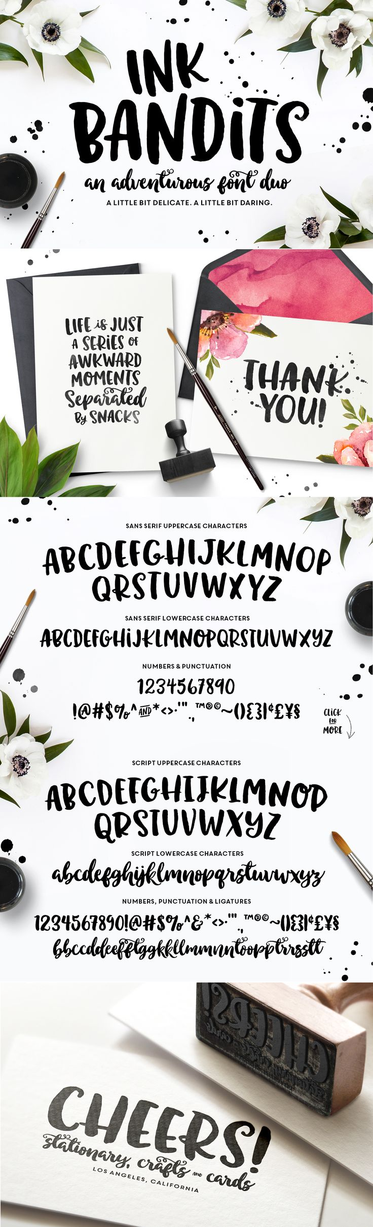 Ink Bandits Font Duo by MakeMediaCo. on Creative Market #designtools #lettering #typography #type #font