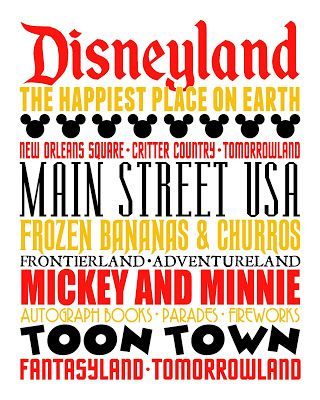 This free download poster would make a great addition to your countdown calendar! It's for Disneyland but it will work for Walt Disney World too!  #Disneyland #Disney #WaltDisneyWorld  [DISNEY WEEK] Subway Art