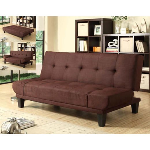 Sofas For Sale Milano Futon Sofa Bed with Adjustable Wings in Dark Brown