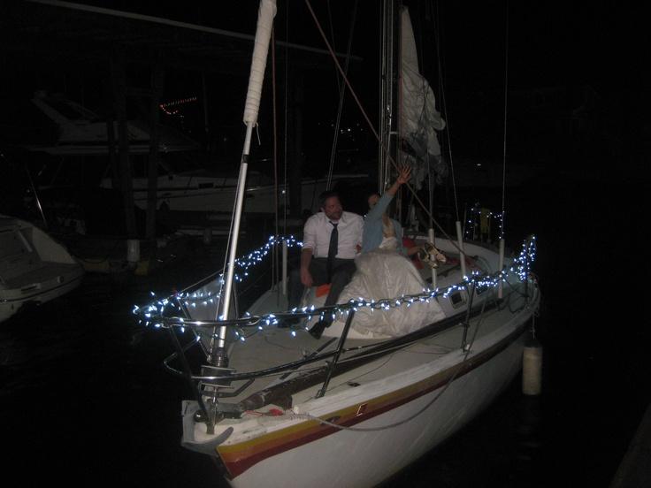 Boat Send Off!!! @ Blue Ribbon Cooking School via Blue Ribbon All-Inclusive Weddings