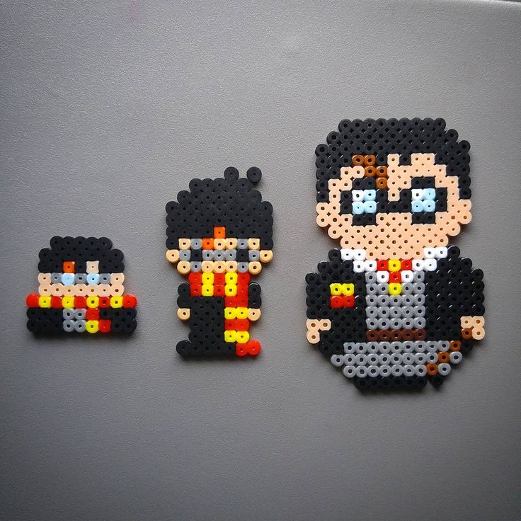 Harry Potter perler beads by atruby85