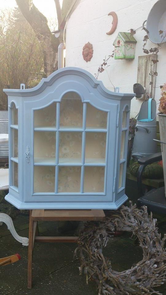 Hangkastje Annie Sloan Louis Blue en Original. gemaakt door Astrid