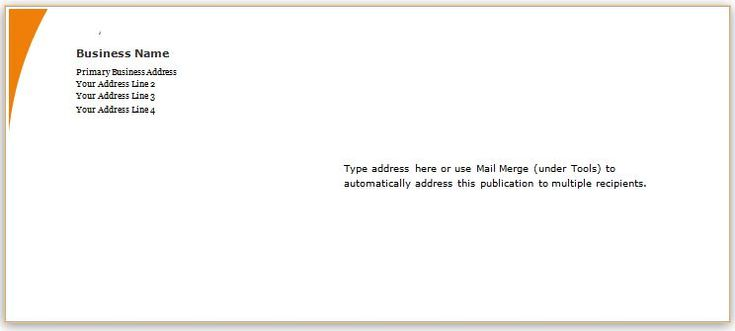 Envelope Template Design for MS Word DOWNLOAD at http\/\/www - audit report template word
