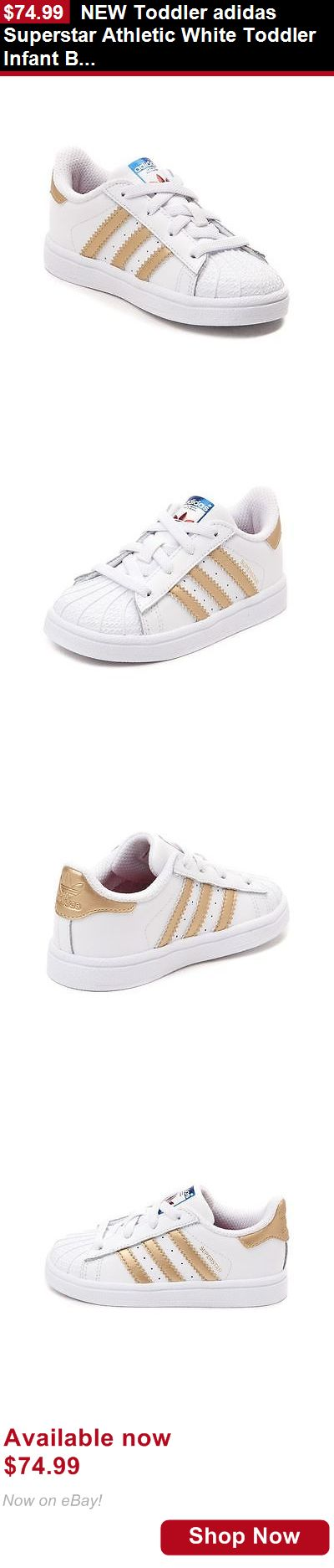 Baby boys clothing shoes and accessories: New Toddler Adidas Superstar Athletic White Toddler Infant Boys Girl Shoe Gold BUY IT NOW ONLY: $74.99