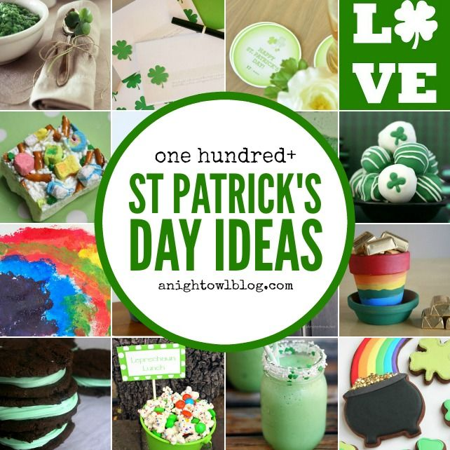 100 St. Patrick's Day Ideas - Recipes, Decor, Crafts + MORE! All you need to make your St. Patrick's Day memorable for your family!