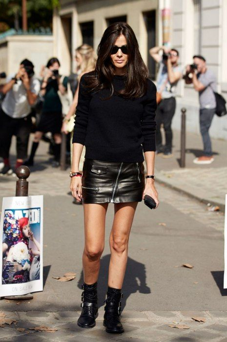 Barbara staying true to form rocking a black mini. legend. Paris. #BarbaraMartelo
