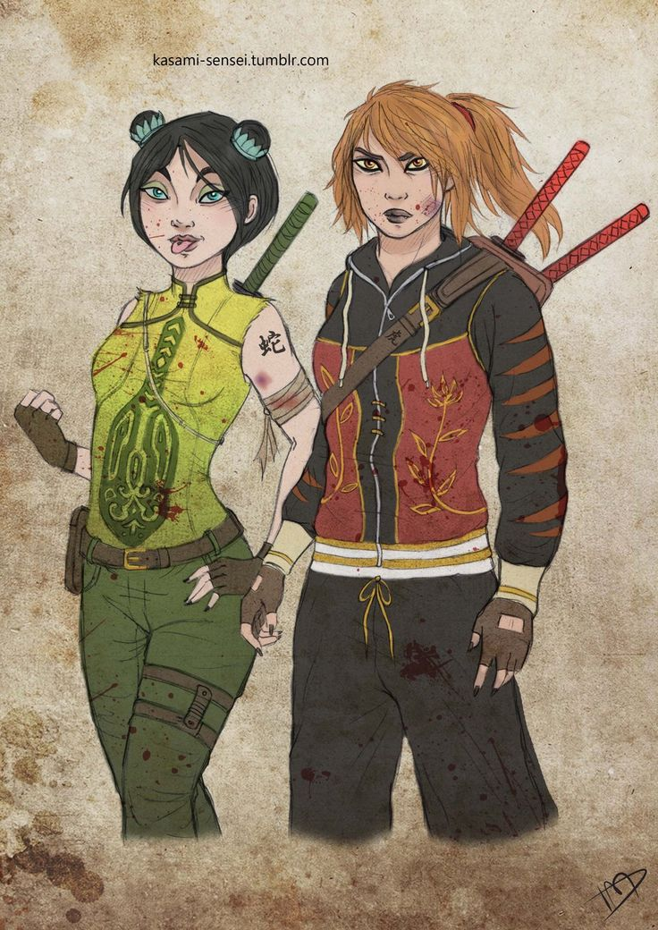 The Walking Dreamworks : Tigress and Viper by Kasami-Sensei.deviantart.com on @deviantART