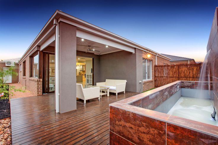 Entertain your guests in this spacious alfresco area.   #Alfresco #EntertainmentArea #Decking #MimosaHomes www.mimosahomes.com.au