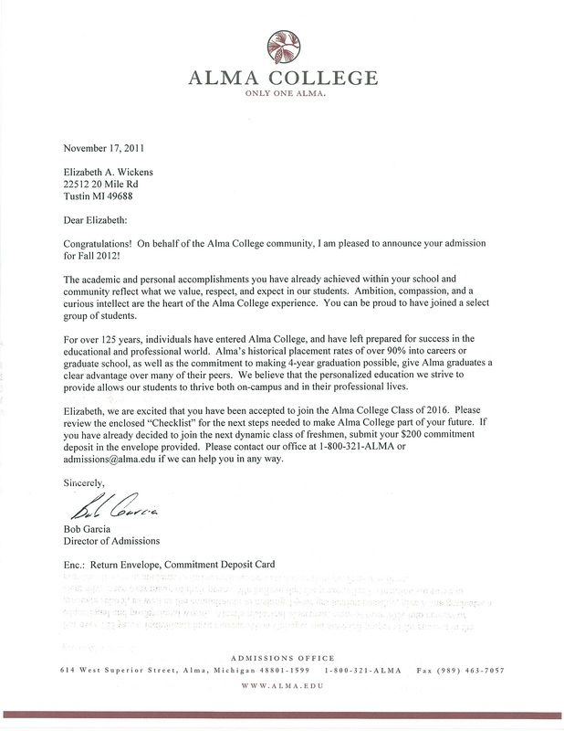 college rejection letter template - 18 best images about acceptance letters on pinterest new