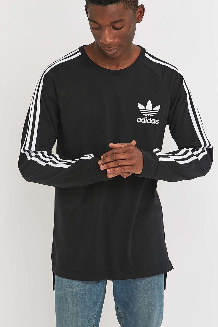 adidas Adicolor Black Long Sleeve T-shirt