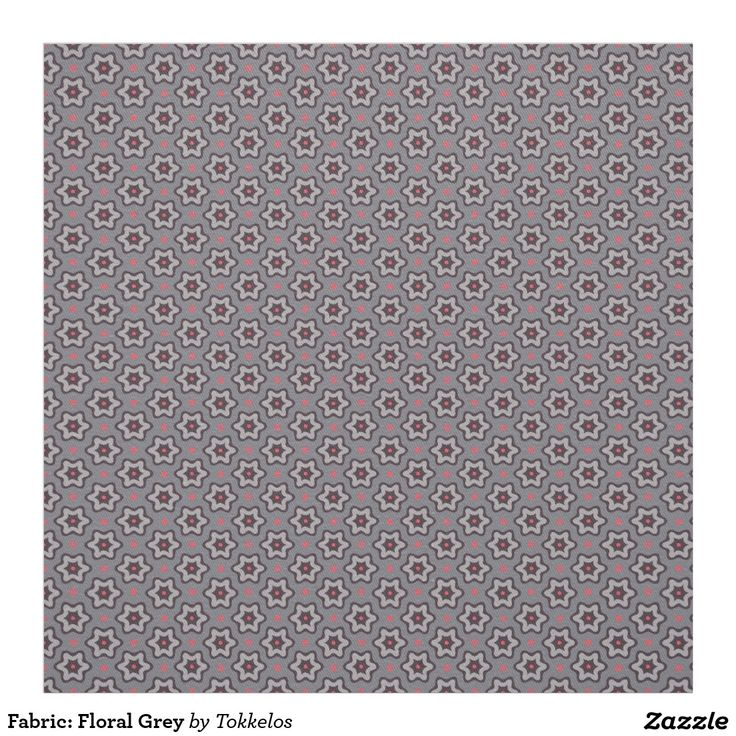 Fabric: Floral Grey