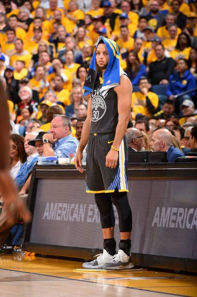ffad97cd00ee Stephen Curry of the Golden State Warriors looks on against the New Orleans  Pelicans in Game Two of Round Two of the 2018 NBA Playoffs on May 1 2018.