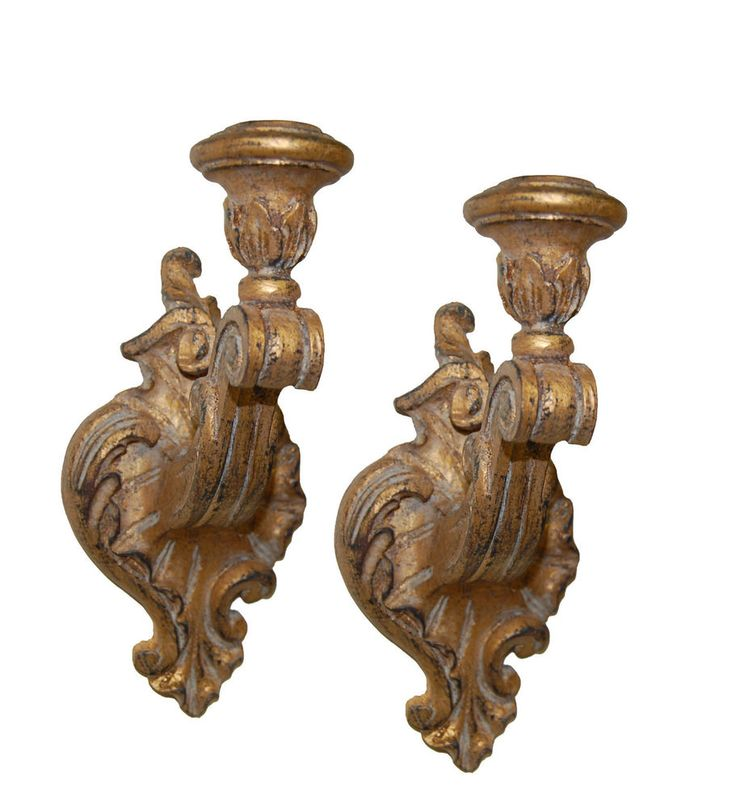 Victorian Candleholder Wall Sconce 2-Piece Set ~ Available in 60 Colors #MadeinUSA #FrenchCountry