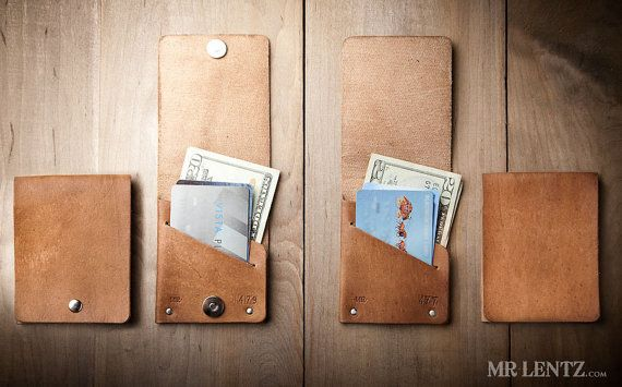 Thin Wallet Card Wallet Leather Wallet Minimal Wallet by MrLentz, $50.00