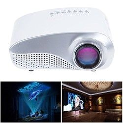 Sunsbell®LED Mini Projector Fashionable Home Theater Support HD Video Games TV Movie TXT Music Pocket Size Projector