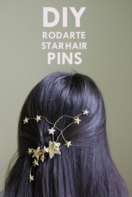 hello, whimsy.: DIY Rodarte Star Hair Pins Tutorial  I would skip the paint and the rhinestones and just make this homemade star buttons