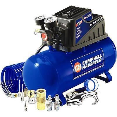 Portable Air Compressor Accessory Kit 3 Gallon Horizontal Oilless Inflation Gun
