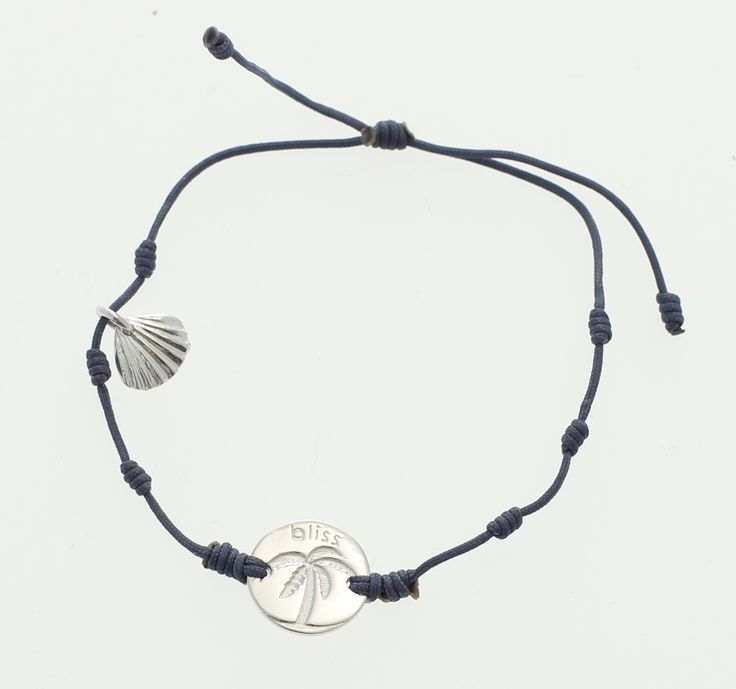 Inmotion Essentials by Monica Øien | Palm Springs bracelet silver coin blue