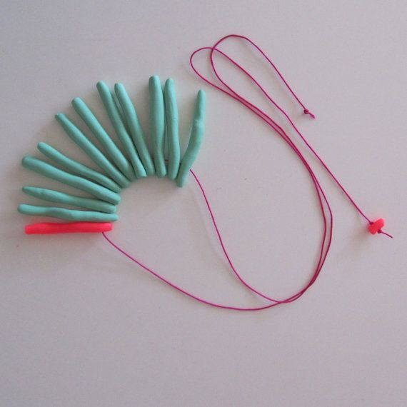Electric neon pink pop mint pastel mix long sea by bbppdesigns, $30.00