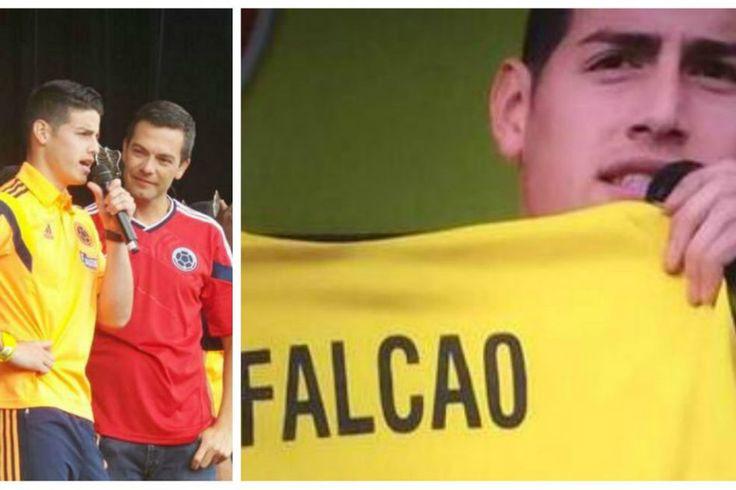 James Rodríguez recuerda a Falcao ante más de 100.000 aficionados en el Simón Bolívar