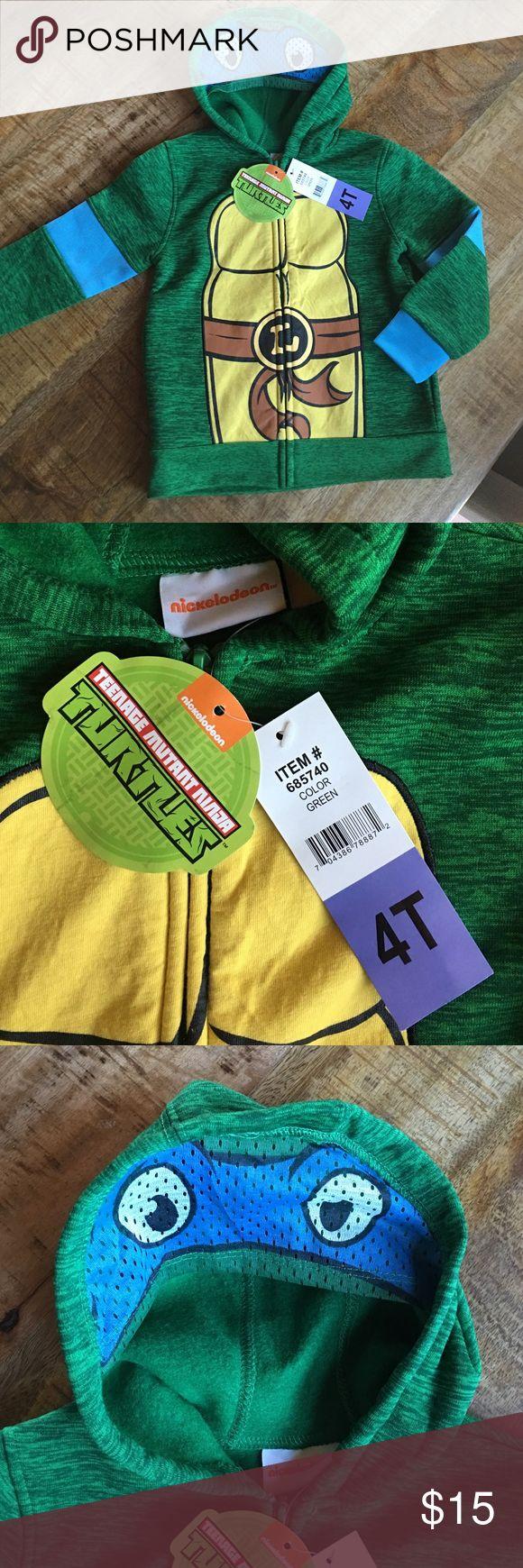 Nickelodeon ninja turtle hoodie 4T Blue ninja turtle zip up hoodie / 4T/ NWT Nickelodeon Shirts & Tops Sweatshirts & Hoodies