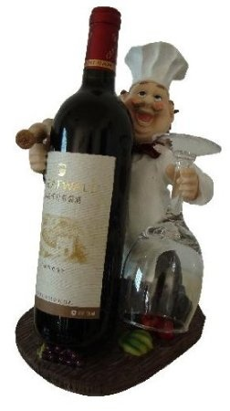 Amazon.com: Wine and glass fat Italian chef holder + matching toothpick holder: Home & Kitchen