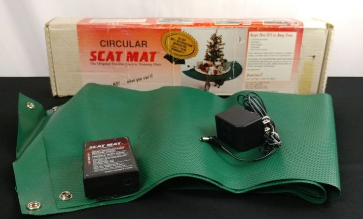 "Scat Mat Circular Christmas Tree Size 48"" x 20"" Electric Shock Trainer Dog Cat #ScatMat"