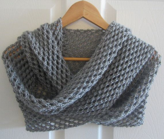 My latest knit >>Knitted Shawl  Grey Wrap  Hand Knit Wrap  by www.itsCOWLdoutside.etsy.com  #etsy  #knit  #shawl