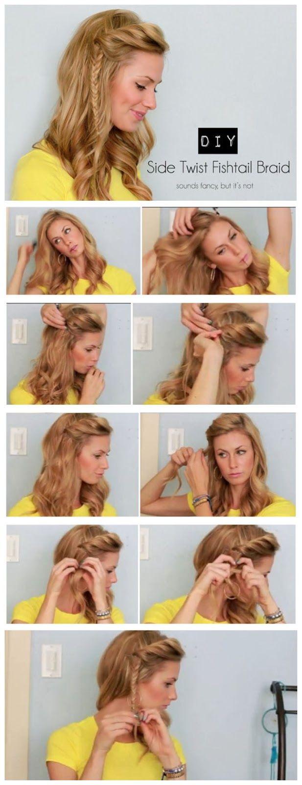 surprisebeauty: Side Twist Fishtail Braid Tutorial