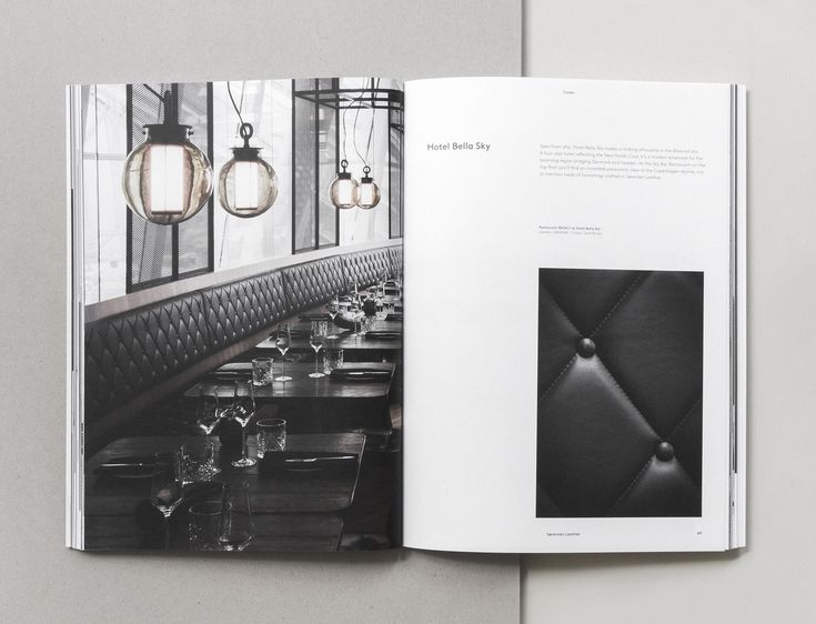 One of the many global cases with designs crafted with Sorensen Leather. Page from our Brand Book 2nd Edition designed and photographed by Norm Architects.Text by Julie Ralphs.