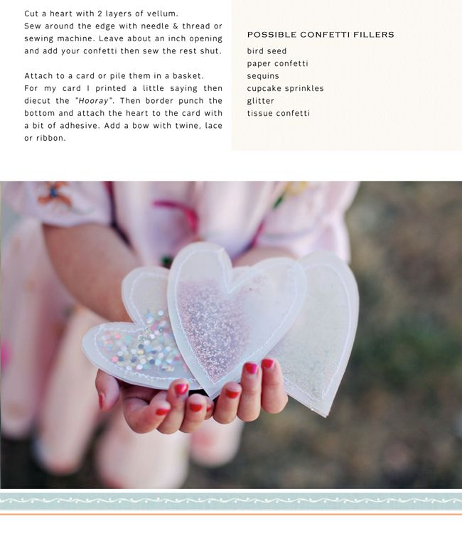 Confetti Hearts DIY / Ruche Blog