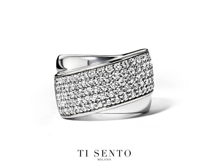 It you like statement rings then you will love this Sterling Silver pave set ring from Ti Sento #LoveTiSento