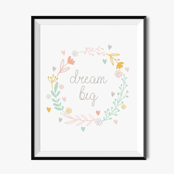 Plakat dla dziecka - Dream big