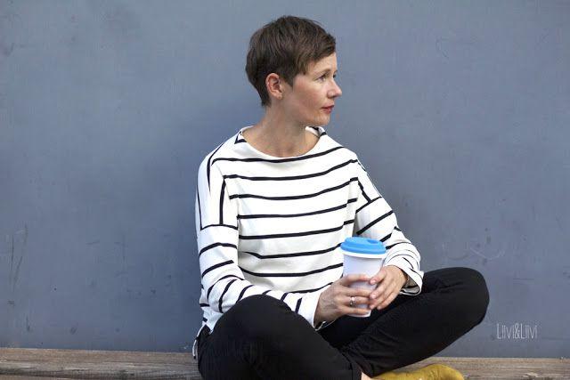 Frau Nora - Hedi näht  Bio-Streifen - Nosh  http://www.liiviundliivi.com/2017/10/streifen-gehen-immer-nora-1.html