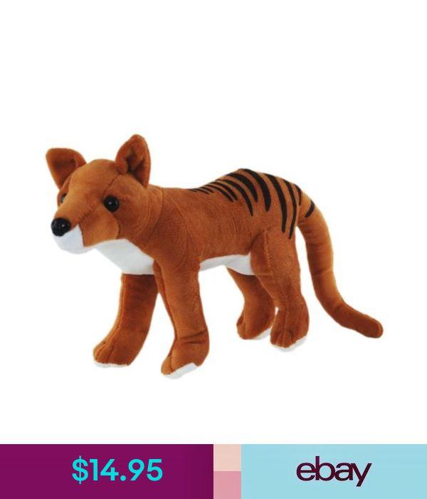 *NEW* AUSTRALIAN STANDING TASMANIAN TIGER SOFT STUFFED ANIMAL PLUSH TOY 22cm