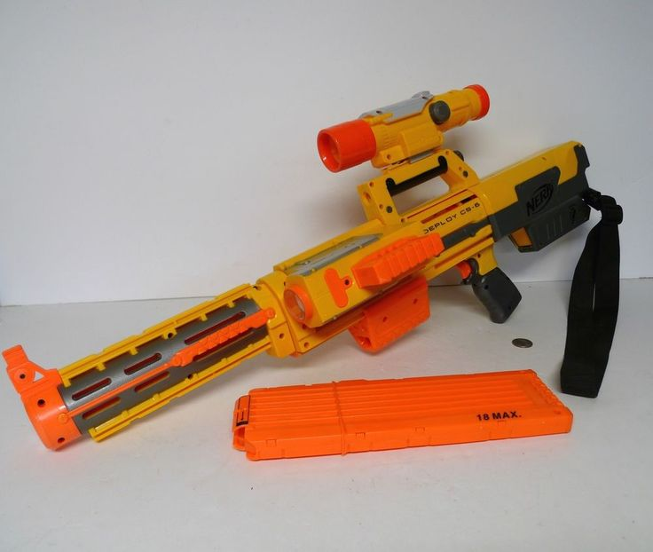 NERF N STRIKE DEPLOY CS-6 with Extra Scope Barrel and 18 Max Clip !!! #NERF