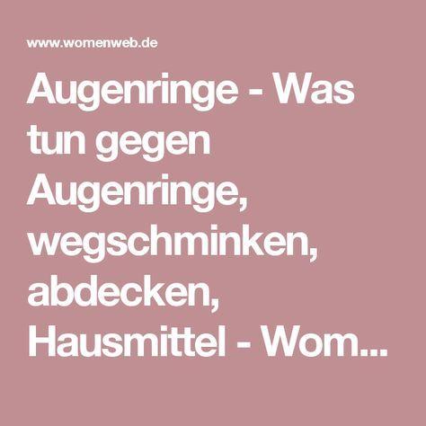 Augenringe - Was tun gegen Augenringe, wegschminken, abdecken, Hausmittel - WomenWeb.de