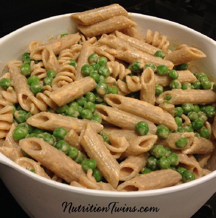 Creamy Tomato Pasta with Peas | Only 218 Calories | Guilt-free Comfort Food | For MORE RECIPES please SIGN UP for our FREE NEWSLETTER www.NutritionTwins.com