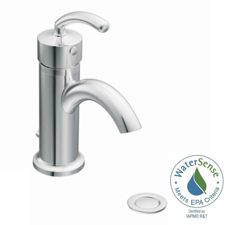 MOEN Icon Single Hole Single-Handle Low-Arc Lavatory Faucet in Chrome (Grey)